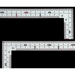 シンワ 曲尺広ピタ シルバー 50cm 表裏同目 内目盛端面基点目盛 JIS 10034