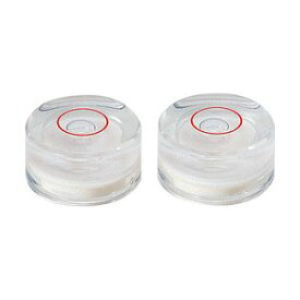 シンワ測定 丸型気泡管B φ16mm クリア 2ヶ入 76329