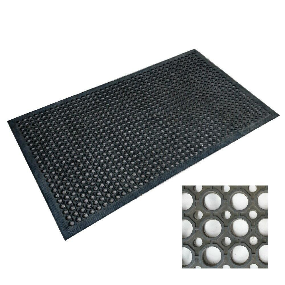穴有りゴムマット [12×600×900mm] KM101