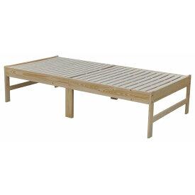 【メーカー直送 代引不可】エイ・アイ・エス 布団も使える木製ベッド ナチュラル SKBD-001 NA