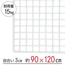 【大型便・時間指定不可】ワイヤーネット 白 90×120