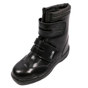 ジプロア 半長靴 マジック 25.0cm ブラック JASS A種 ワークブーツ 編み上げ 長編み HZ-702
