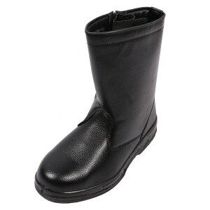コーコス 半長靴 25.0cm 鉄製先芯 ブラック ZA-817