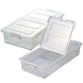 ジェイ・イー・ジェイ JEJ ベッド下収納ボックス 2個組 クリア 9504289 【メーカー直送・代引不可】