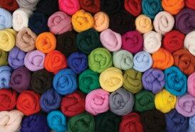 染色スライバーウール・コリデール100g(1)【羊毛フェルト ニードルフェルト 糸 紡ぎ】