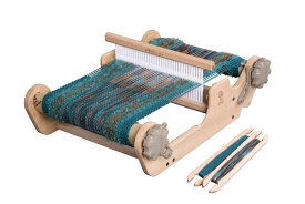 アシュフォード・サンプルイットルーム40cm【卓上 手織り 織り機 タペストリー 織機 ヘドル 紡ぎ 染め 羊毛 フェルト ニードル 糸 綿 ウール】