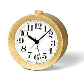 ◆応援!ポイント10倍!◆【デザイン:渡辺力】Lemnos(レムノス)インテリアクロックRIKI ALARM CLOCK WR09-15 NT ナチュラル