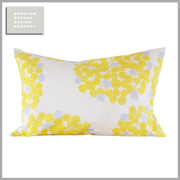 ☆☆☆☆☆【メール便可】QUARTER REPORT(クォーターリポート)Pillow Case【ピロケース】Float (フロート) 色:イエロー【デザイン:岡理恵子】