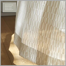 ◆秋得!ポイント10倍!◆【送料無料!】【smtb-TK】QUARTER REPORT(クォーターリポート)LaceCurtain【レースカーテン】Lace Tile(レースタイル)100×133cm(2枚1組)セット販売 色:ホワイト【interiorカーテン】