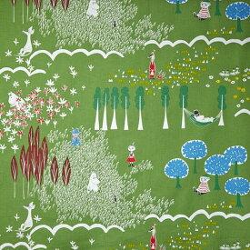 ◇ポイント10倍◇QUARTER REPORT(クォーターリポート)MOOMIN(ムーミン)生地:ここにいるよ Fabric【ファブリック】 生地販売(100cm)【デザイン:鈴木マサル】
