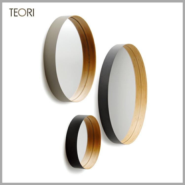 ◆特選!ポイント15倍!◆TEORI(テオリ) 竹集成材プロジェクト壁掛けミラー M ZERO 【メーカー在庫僅少】