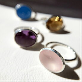 Facil 天然石 リング インドジュエリー 指輪 シルバージュエリー シトリン 夏ジュエリーギフト プレゼント カジュアルリング 誕生日 大人かわいい