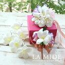 白プルメリアのリストレット/髪飾り/ブートニア/お得セット・ハワイアン・ウェディングアイテム・ブライダル・結婚式…