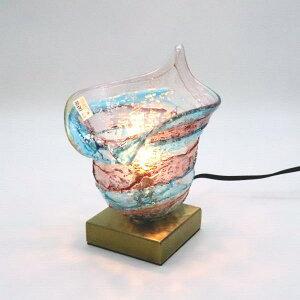 034-calla-sbruffo-amethyst-lightblue ベネチアングラスランプ 照明 テーブルランプ テーブルライト 卓上ランプ イタリア製