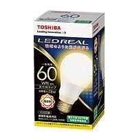 東芝 LDA7N-G/60W 10個入/1箱 昼白色  E26口金 LED電球 全方向タイプ配光角260度一般電球60W形相当[LDA7NG60W]