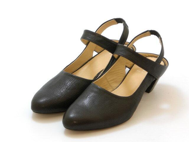 SAYA サヤバックストラップパンプス(ブラック) レディース シューズ 靴