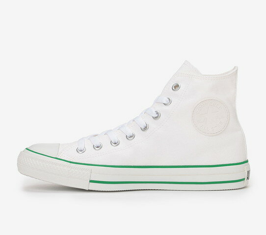 ≪5% OFF SALE≫CONVERSE コンバースALL STAR WR COLOREDLINE HI オールスター WR カラードライン HI(ホワイト/グリーン)レディース シューズ 靴セール品につき返品・交換・キャンセル不可