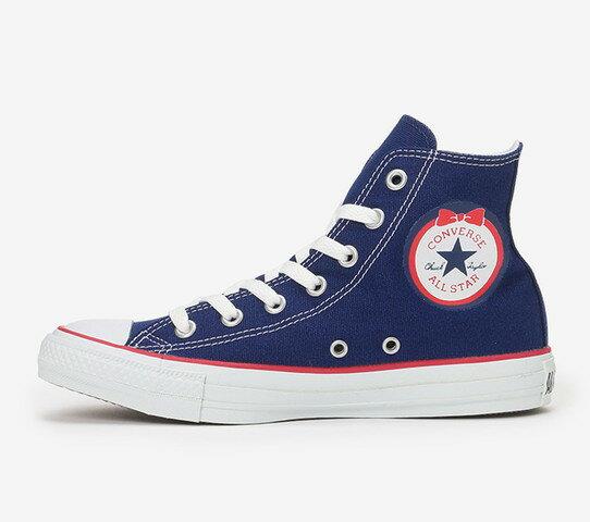 ≪20% OFF SALE≫CONVERSE コンバースALL STAR RIBBONPATCH HI オールスター リボンパッチ HI(ネイビー)レディース シューズ 靴セール品につき返品・交換・キャンセル不可