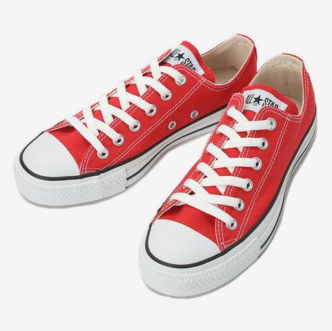≪17% OFF SALE≫CONVERSE コンバースCANVAS ALL STAR OX キャンバス オールスターOX(レッド)レディース シューズ 靴セール品につき返品・交換・キャンセル不可
