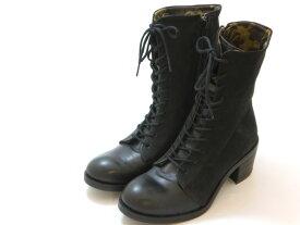 ≪30% OFF SALE≫FLY LONDON フライロンドンZEKO レースアップ ショートブーツ(ブラック/ブラック)レディース シューズ 靴セール品につき返品・交換・キャンセル不可