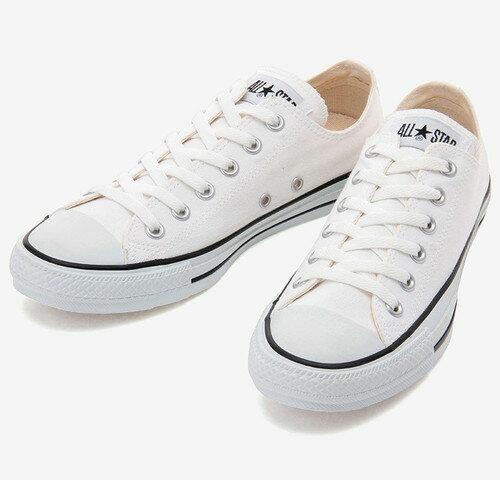 CONVERSE コンバースCANVAS ALL STAR COLORS OX キャンバス オールスター カラーズ OX(ホワイト/ブラック)レディース シューズ 靴