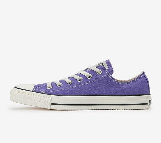 CONVERSE コンバースALL STAR WASHEDCANVAS OX オールスター ウォッシュドキャンバス OX(パープル)レディース シューズ 靴
