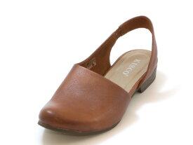 KISCO キスコスリングバック ぺたんこカジュアルシューズ(ブラウン)レディース シューズ 靴