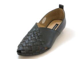 RABOKIGOSHI works ラボキゴシ ワークス甲深 メッシュパンプス(ブラック)レディース シューズ 靴