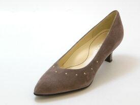 REGAL リーガルスタッズ付き ポインテッドトウパンプス(オークスエード)レディース シューズ 靴