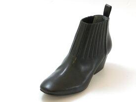 ≪20% OFF SALE≫RABOKIGOSHI works ラボキゴシ ワークスチャンキーヒール サイドゴアブーツ(ブラック)レディース シューズ 靴セール品につき返品・交換・キャンセル不可