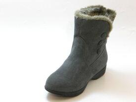 Beauth ビュース防水タイプ スエードショートブーツ(ダークグレー)レディース シューズ 靴