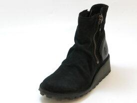 ≪30% OFF SALE≫FLY LONDON フライロンドンMONG スエード カジュアルショートブーツ(ブラックスエード)レディース シューズ 靴セール品につき返品・交換・キャンセル不可