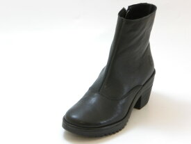 FLY LONDON フライロンドンWINE サイドジップ ショートブーツ(ブラック)レディース シューズ 靴