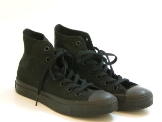 CONVERSE CONVERSE CANVAS ALL STAR HI canvas All Star HI (black monochrome) ☆ shoes shoes sneakers ☆