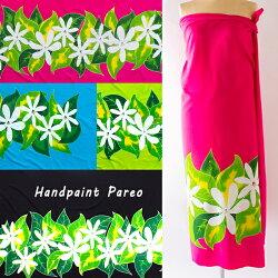 高品質な手染めのパレオ大判タヒチアンダンスフラダンス水着ワンピースマルチカバーハワイアン雑貨