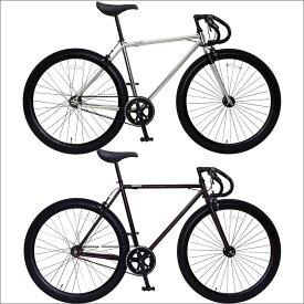 おしゃれ 自転車 通勤 通学 メンズ レディース ピスト 700C シングルスピード ディープリム クロスバイク ロードバイク 自転車 OSSO R100-CR オッソ メンズ レディース