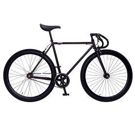 おしゃれ 自転車 通勤 通学 メンズ レディース ピスト 700C シングルスピード ディープリム クロスバイク ロードバイク 自転車 OSSO R100-CR ボルドー オッソ メンズ レディース