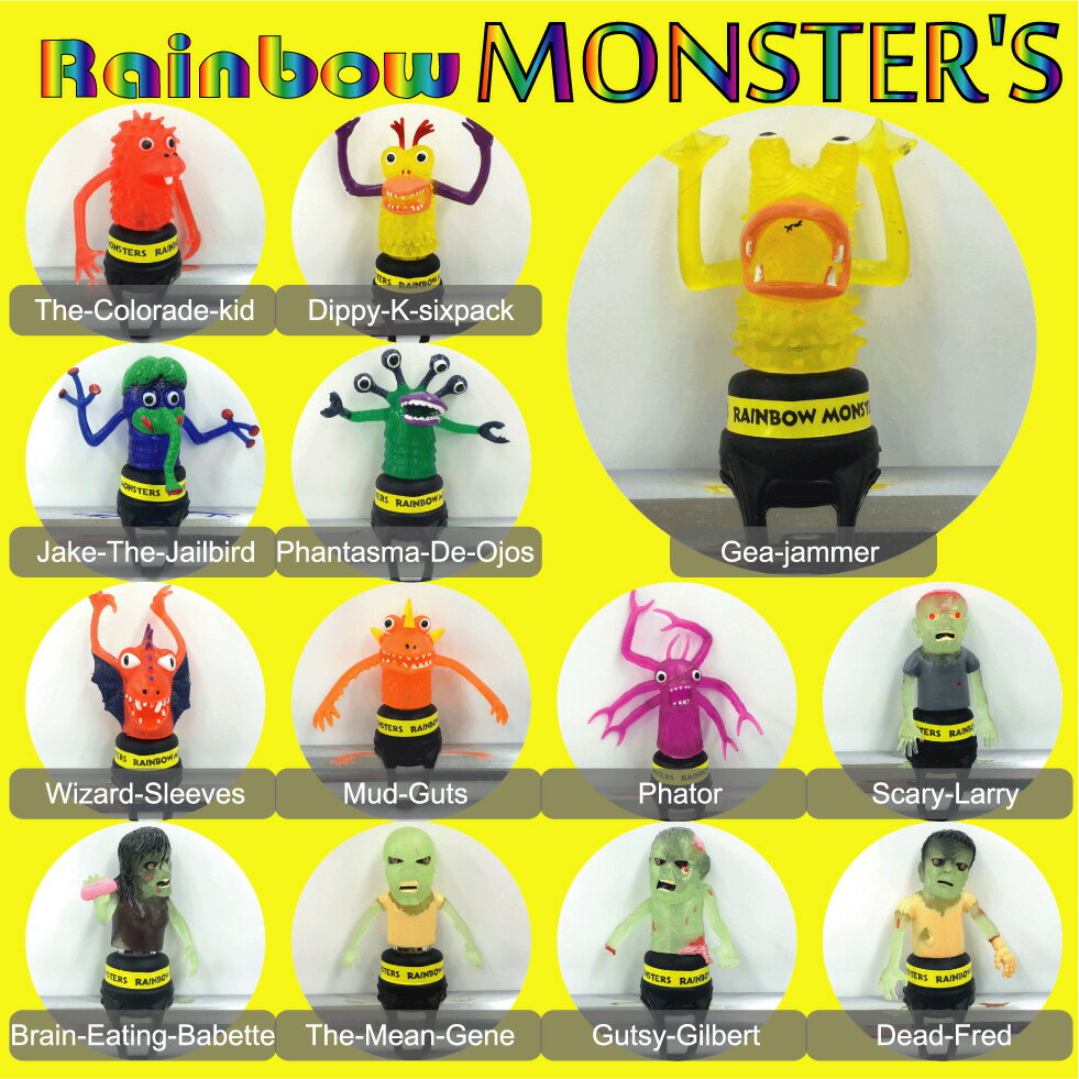 【自転車用 ライト】Rainbow Monsters LED LIGHT