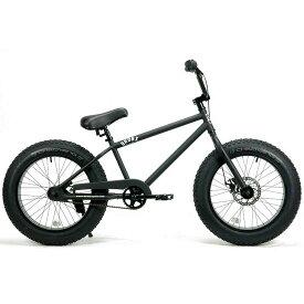ファットバイク 20インチ 極太タイヤ ミニベロ おしゃれ 自転車 通勤 通学 ブロンクスファットバイク 20BRONX マットブラック×ブラックリム メンズ レディース