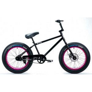 自転車 BRONX 20BRONX グロスブラック×ピンクリム ブロンクス ファットバイク レインボー ビーチクルーザー 20インチ 極太タイヤ おしゃれ 通勤 通学 メンズ レディース
