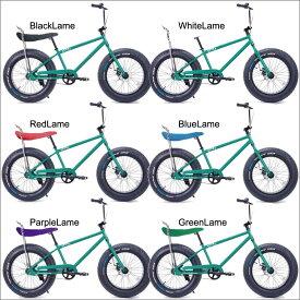 自転車 BRONX 20BRONX CUSTOM グリーン×ブラックリム ブロンクス ファットバイク レインボー ビーチクルーザー 20インチ 極太タイヤ カスタム おしゃれ 通勤 通学 メンズ レディース