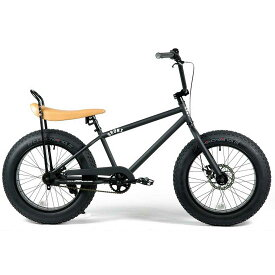 ブロンクス ファットバイク レインボー ビーチクルーザー 20インチ 極太タイヤ カスタム おしゃれ 自転車 通勤 通学 メンズ レディース 20BRONX-custom マットブラック×ブラックリム