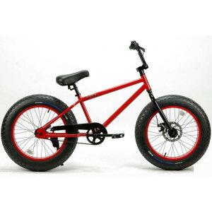 自転車 BRONX 20BRONX グロスレッド×レッドリム ブロンクス ファットバイク レインボー ビーチクルーザー 20インチ 極太タイヤ おしゃれ 通勤 通学 メンズ レディース