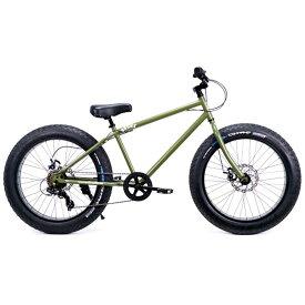 ファットバイク 24インチ 極太タイヤ 変速付 おしゃれ 自転車 通勤 通学 ブロンクスファットバイク 24BRONX-DD アーミーグリーン×ブラックリム メンズ レディース
