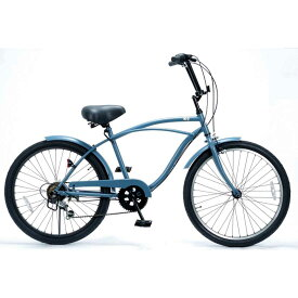 """自転車 KB 24""""CityCruiser-6D バトルシップグレー レインボー ビーチクルーザー 24インチ おしゃれ 通勤 通学 6段変速付 メンズ レディース ジュニア"""