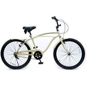 ビーチクルーザー 24インチ おしゃれ 自転車 通勤 通学 レインボービーチクルーザー 24KB-1SPEED サンドベージ メンズ レディース ジュニア