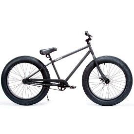 ブロンクス ファットバイク レインボー ビーチクルーザー 26インチ 極太タイヤ おしゃれ 自転車 通勤 通学 メンズ レディース 26BRONX-4.0 マットブラック×ブラックリム