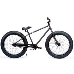 自転車 BRONX 26BRONX-4.0 マットブラック×ブラックリム ブロンクス ファットバイク レインボー ビーチクルーザー 26インチ 極太タイヤ おしゃれ 通勤 通学 メンズ レディース