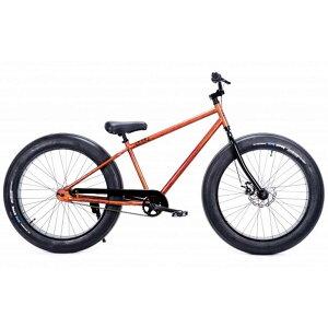 自転車 BRONX 26BRONX-4.0 マットウッディー×ブラックリム ブロンクス ファットバイク レインボー ビーチクルーザー 26インチ 極太タイヤ おしゃれ 通勤 通学 メンズ レディース