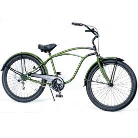 レインボー ビーチクルーザー 26インチ おしゃれ 自転車 通勤 通学 メンズ レディース 変速付 26mens-7D ZERO(ゼロ)
